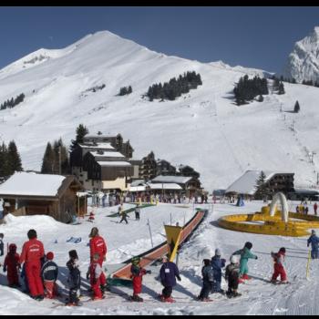 Ski Enfant Hiver Manigod La-Clusaz